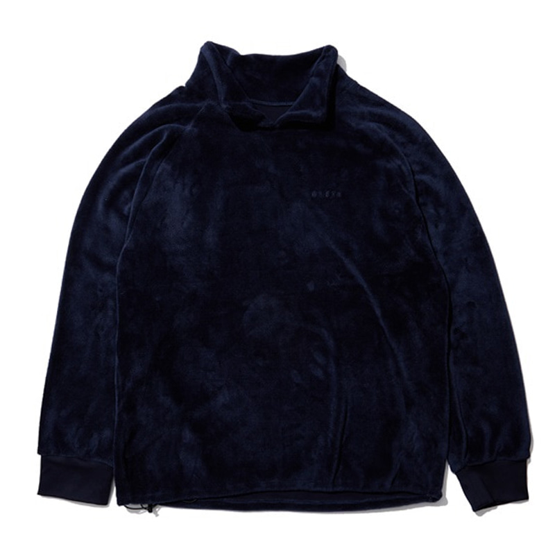 [OVERR] EASSY.3 NAVY FLEECE HALFNECK