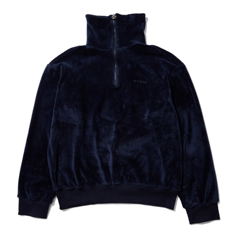 [OVERR] EASSY.3 NAVY FLEECE HIGHNECK