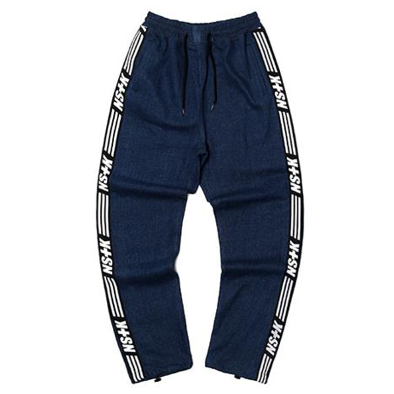 [2018 SUMMER SALE] [NSTK] NSTK LINE TRACK PANTS 2 (DENIM)
