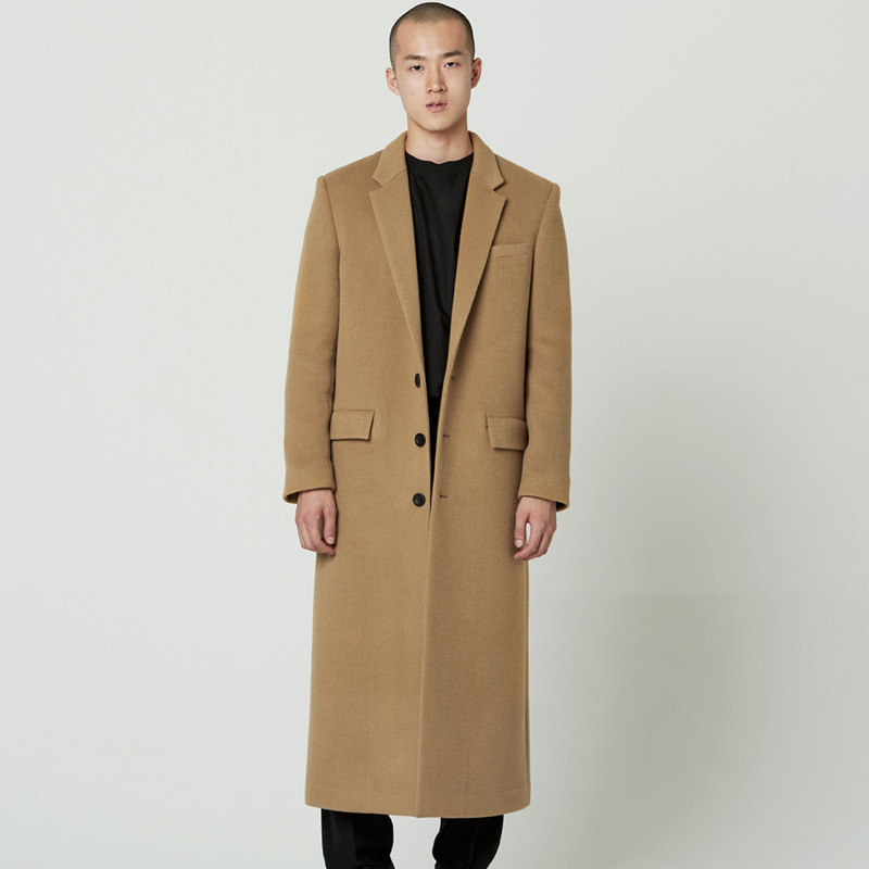 [NOVELLA] 3 BUTTON SINGLE FIT COAT BEIGE