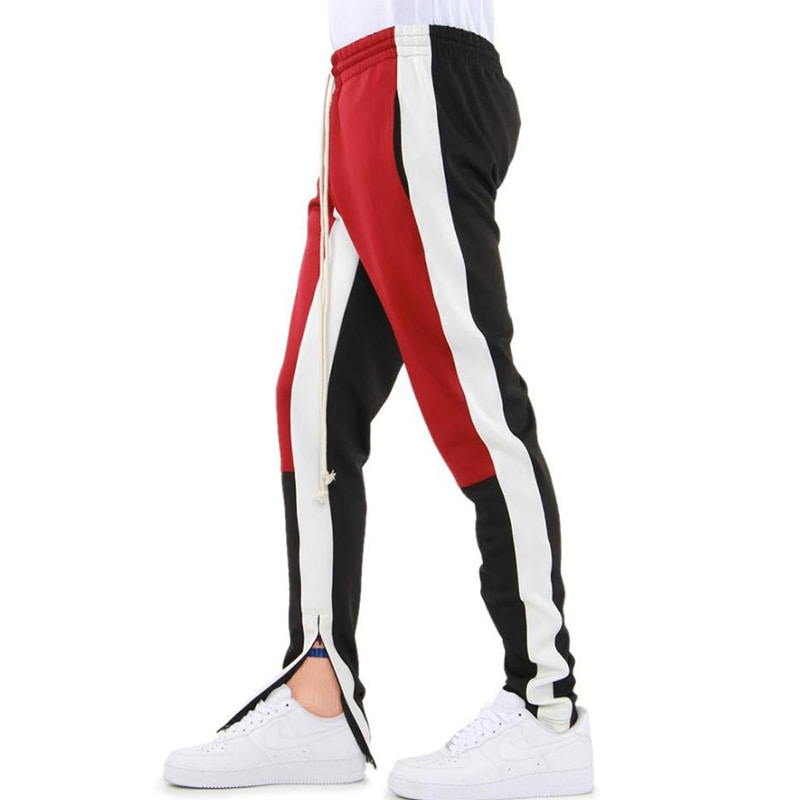 COLOR BLOCK TRACK PANTS (RED/WHITE/BLACK)