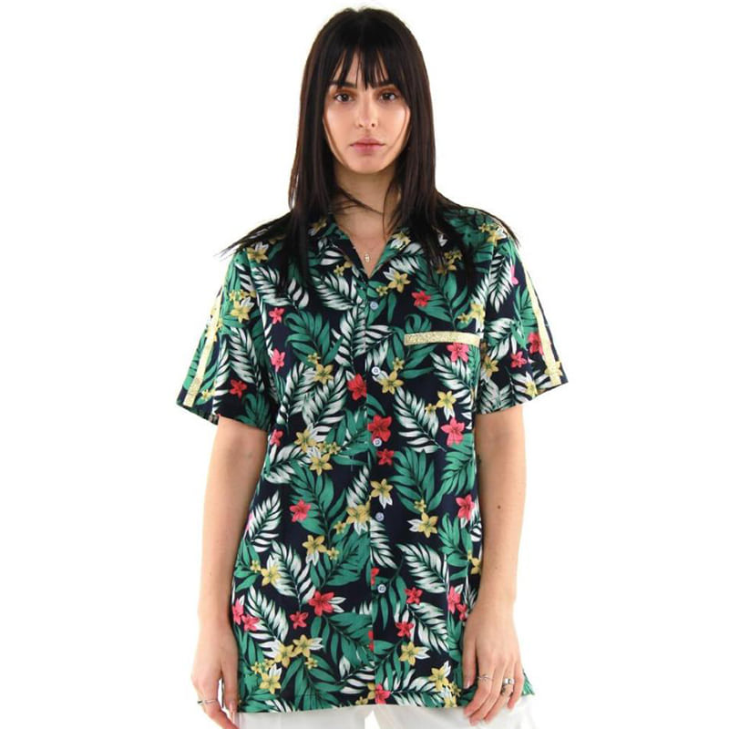 HAWAIIAN TRACK SHIRT (GREEN)