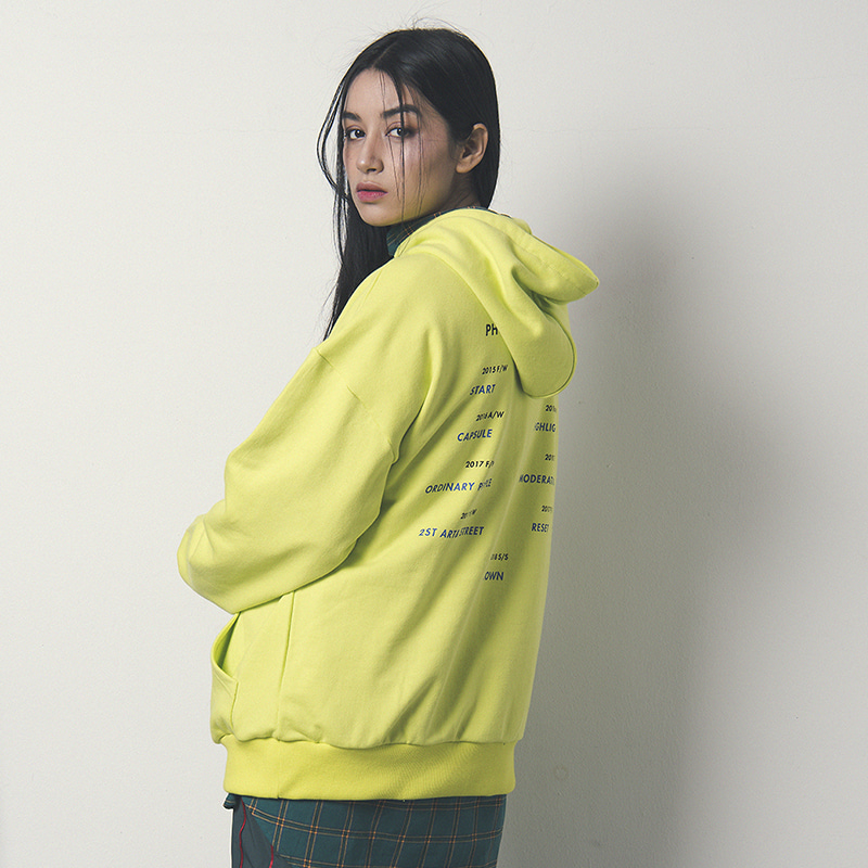 [WANTON] SEASON CONCEPT HOODY LIME