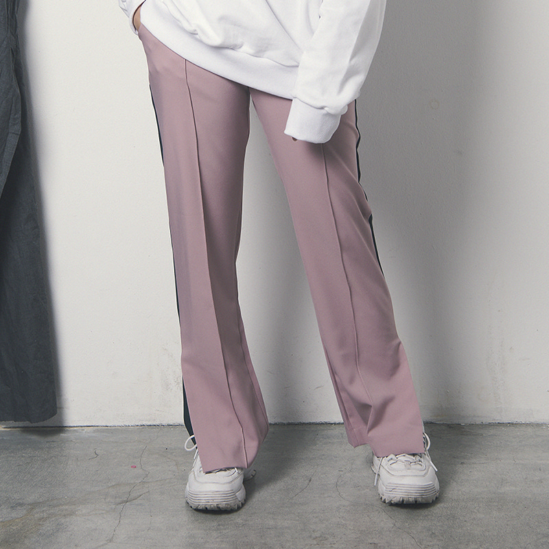 [WANTON] WIDE POINT PANTS PINK