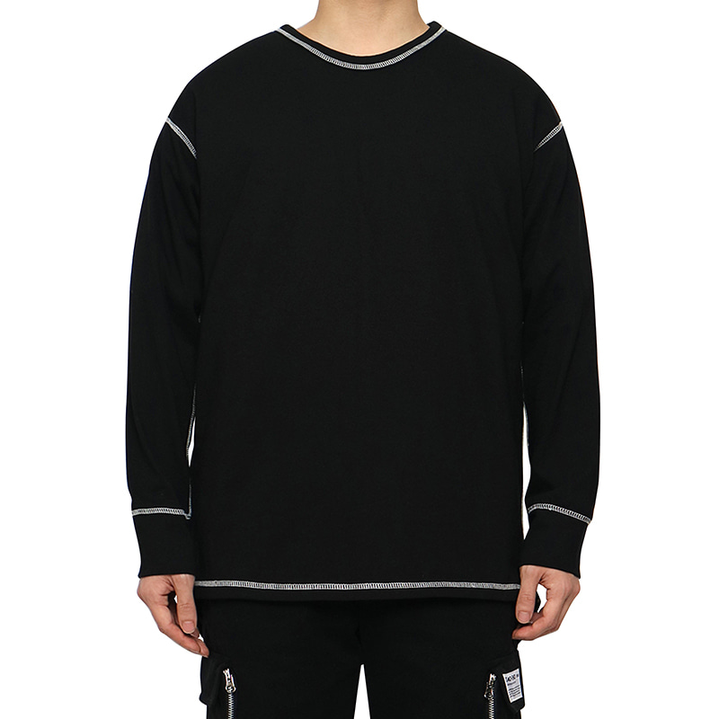 [DEADEND] BLACK COVER STITCH LONG SLV