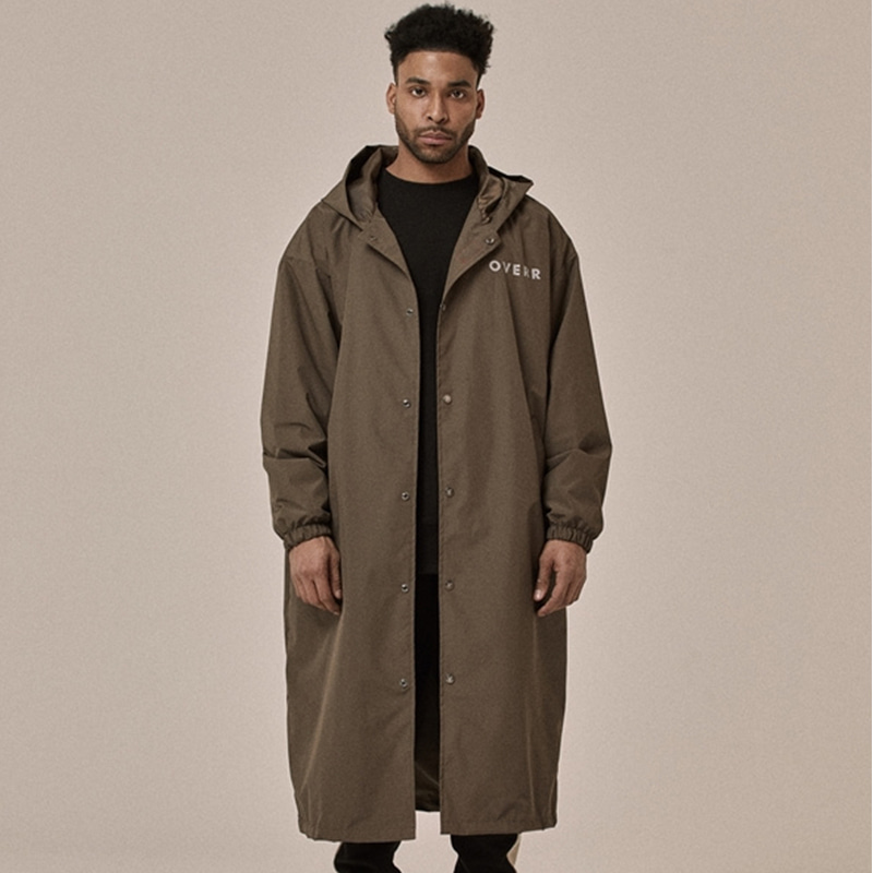 [OVERR] 18SS BROWN RAIN COAT