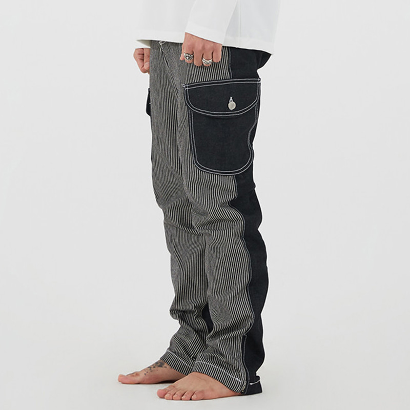 [INNOVANT] UNBALANCE CARGO DENIM PANTS (BLACK)