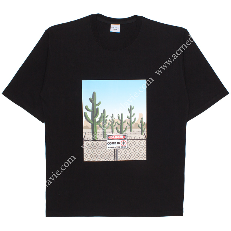[ACME DE LA VIE] ADLV CACTUS SHORT SLEEVE T-SHIRT (BLACK) 선인장 반팔 블랙