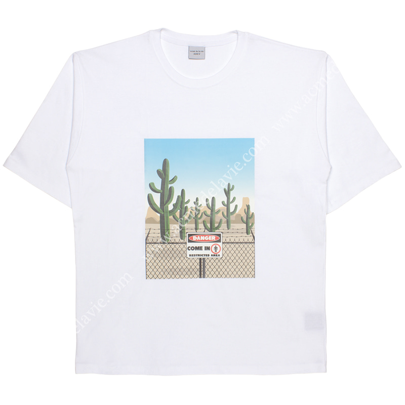 [ACME DE LA VIE] ADLV CACTUS SHORT SLEEVE T-SHIRT (WHITE) 선인장 반팔 화이트