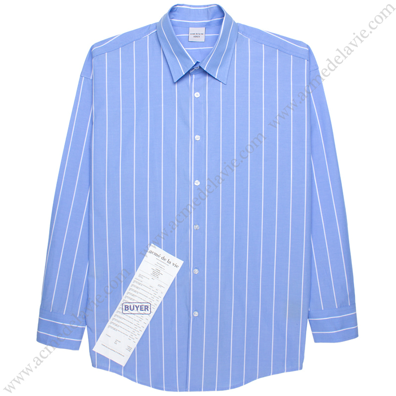 [ACME DE LA VIE] ADLV STRIPE SHIRT (BLUE) 스트라이프 셔츠 블루