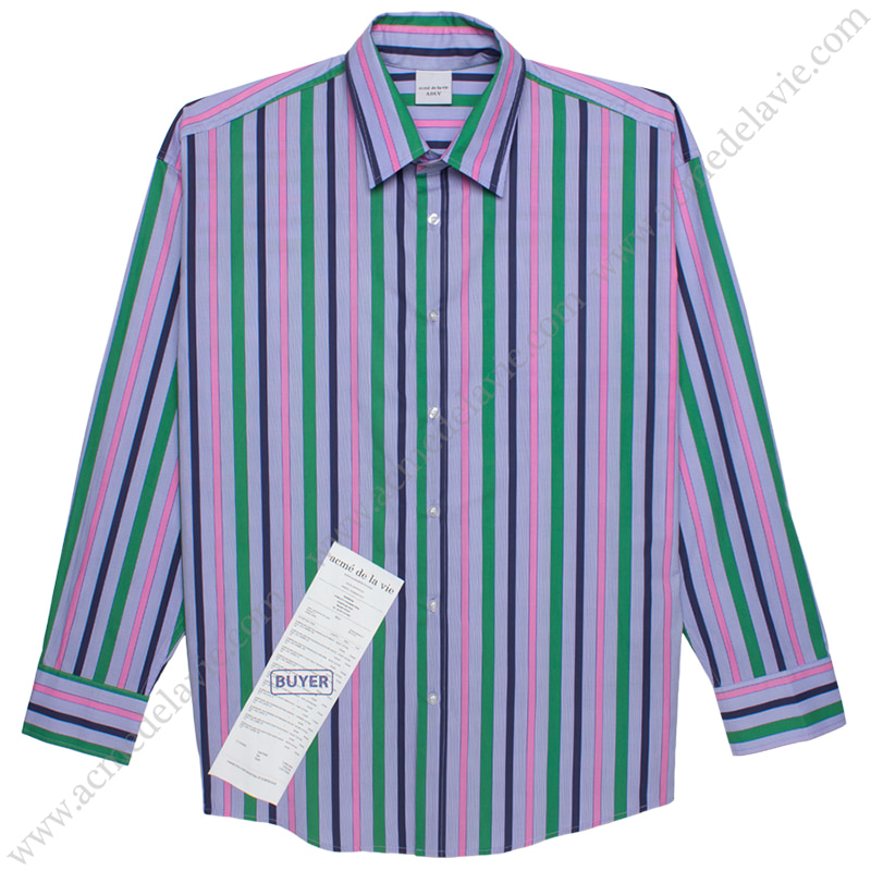 [ACME DE LA VIE] ADLV STRIPE SHIRT (MULTI COLOR) 스트라이프 셔츠 멀티 컬러