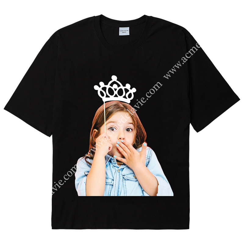 [ACME DE LA VIE] ADLV BABY FACE SHORT SLEEVE T-SHIRT (BLACK) 베이비 페이스 반팔 블랙 티아라