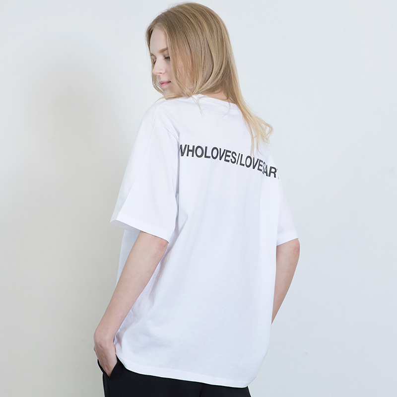 [SUMMER SALE 20% OFF] [WHOLOVESART] UNISEX WLA LOGO SHORT T-SHIRT (WHITE)