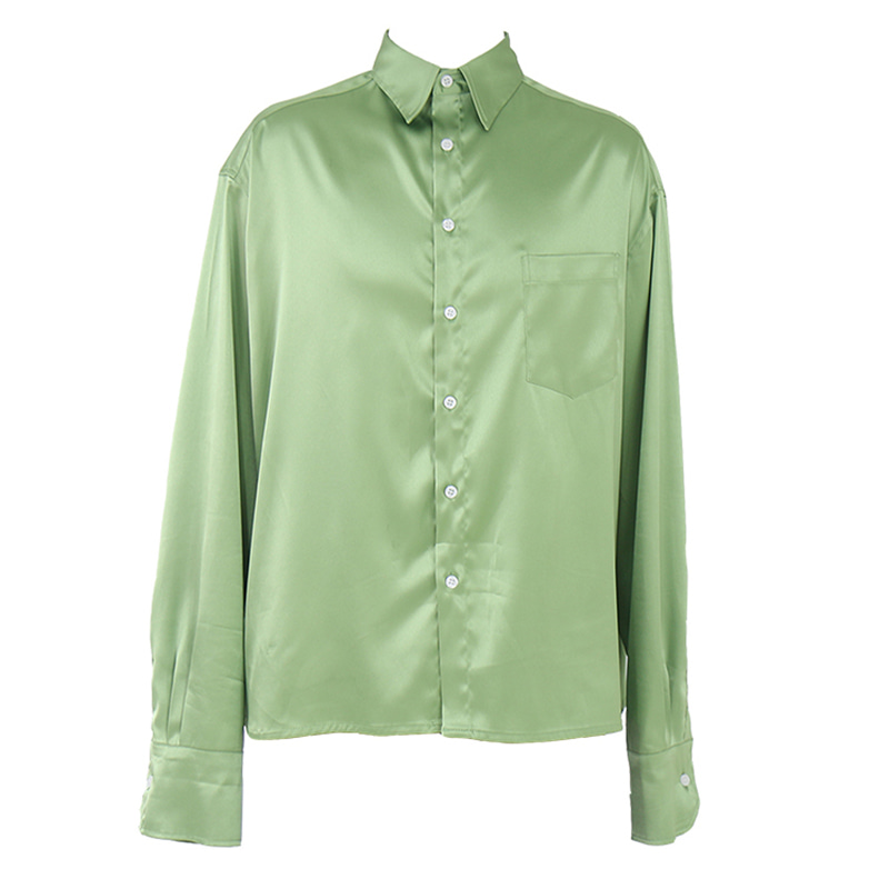 CDG SILKY POLY SHIRT (APPLE GREEN)