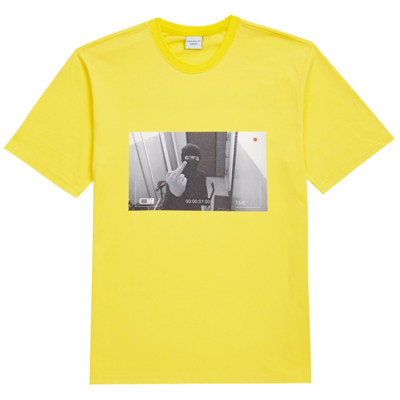 [ACME DE LA VIE] ADLV CCTV  T-SHIRT (YELLOW)