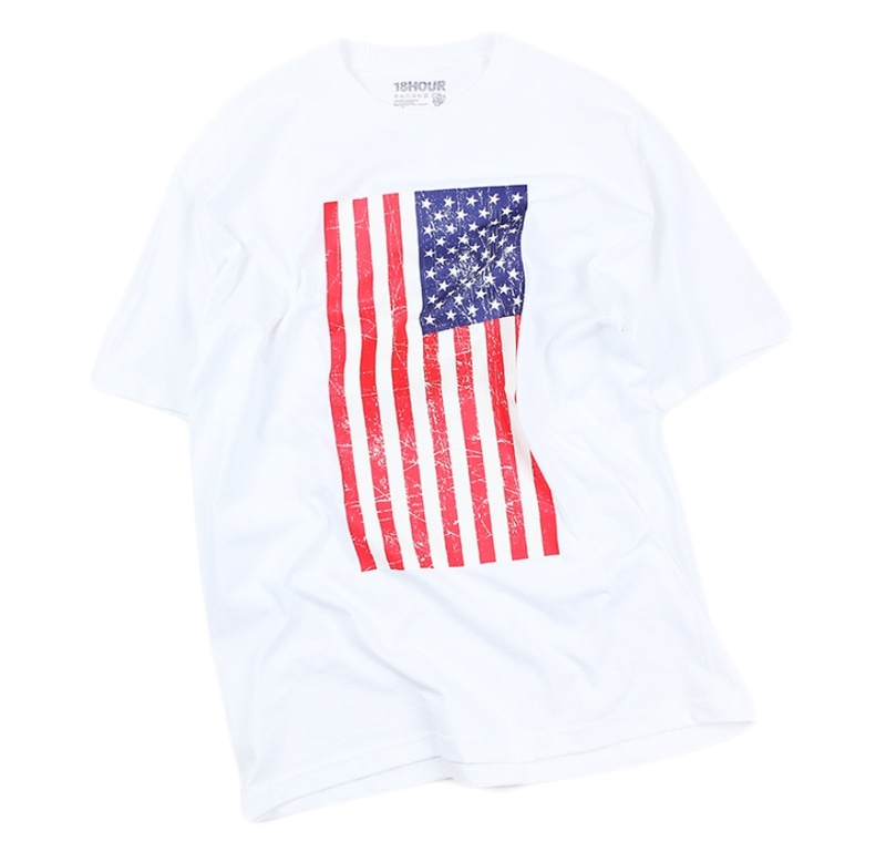 [18 HOUR] 7#STARS AND STRIPES SHORT TEE