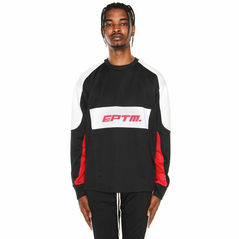 MOTOCROSS COLOR BLOCK LONG SLEEVES TEE (BLACK)