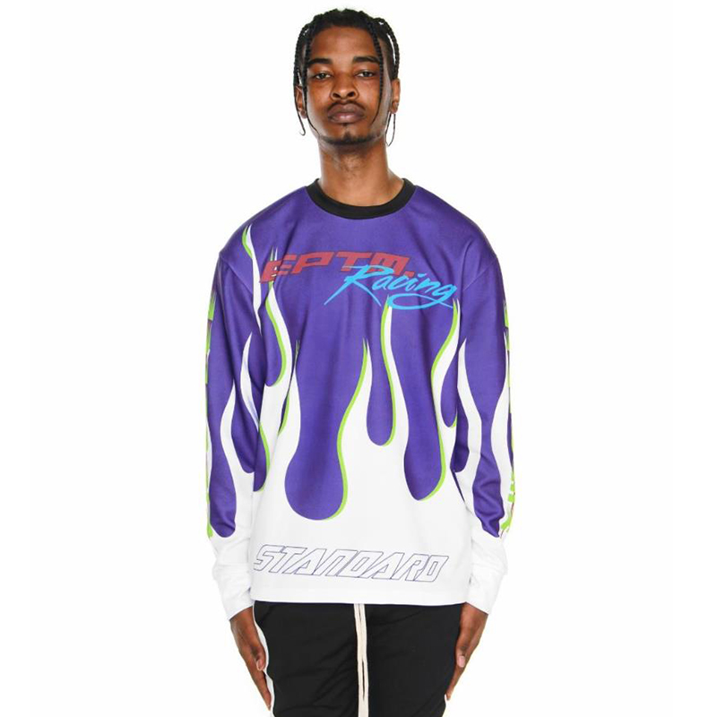 [EPTM] RACING LONG SLEEVES TEE (PURPLE/WHITE)