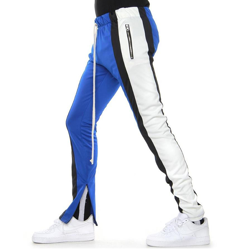 COLOR BLOCK TRACK PANTS 5.0 (BLUE/BLACK/WHITE)