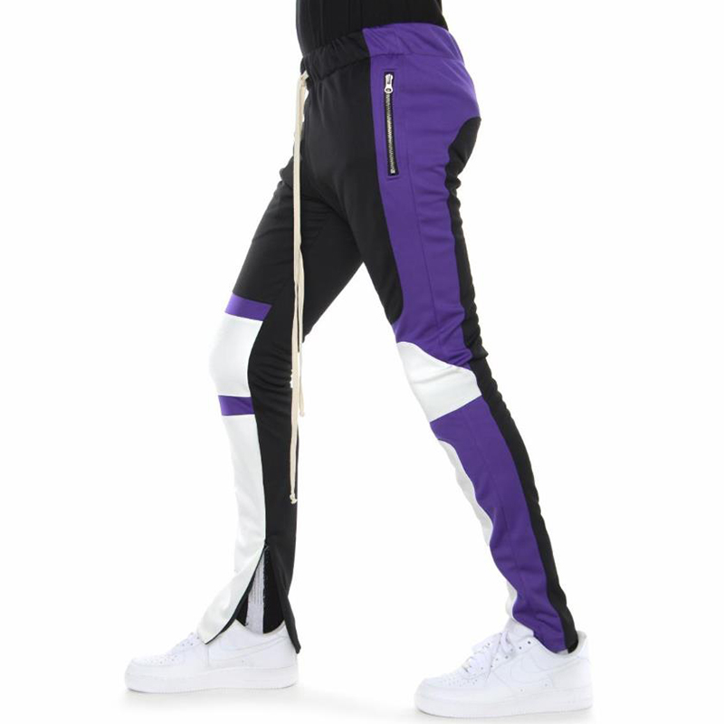MOTOCROSS PANTS (BLACK/PURPLE/OFF WHITE)