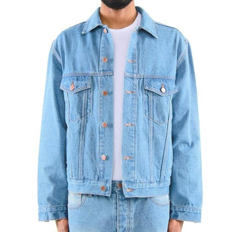 DENIM TRUCKER JACKET (BLUE)