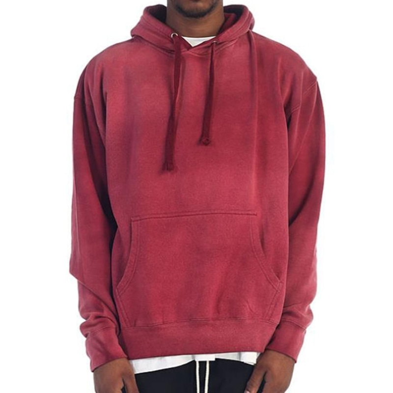 POWER WASHED HOODIE (BURGUNDY)