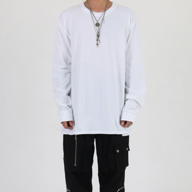 [INNOVANT] BASIC LONG SLEEVE (WHITE)