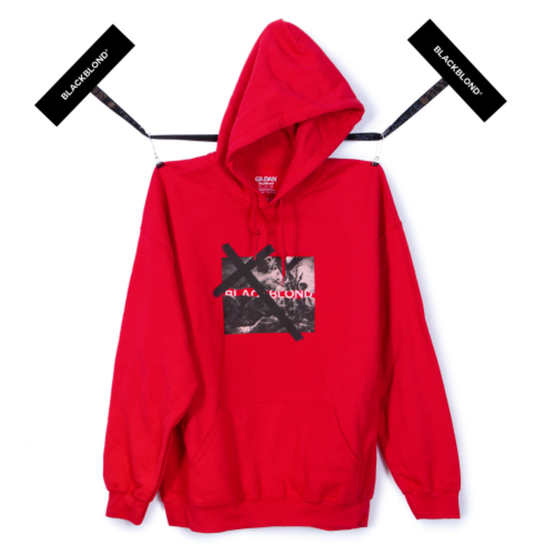[BLACKBLOND] BBD REVOLUTION  HOODIE (RED)
