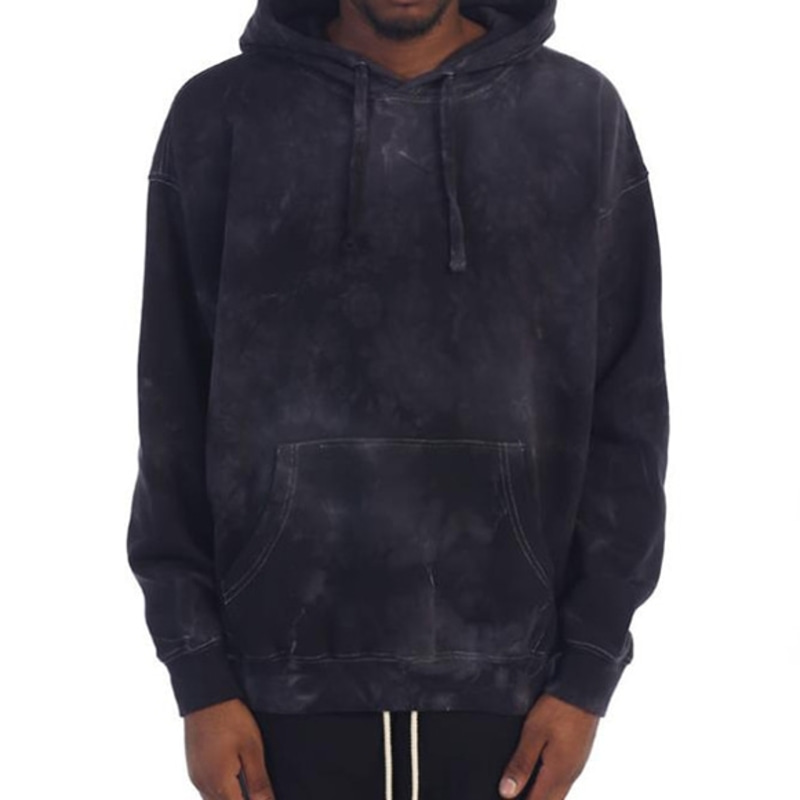 POWER WASHED HOODIE (BLACK)