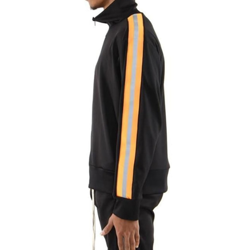 REFLECTIVE TRACK JACKET (BLACK/ORANGE)