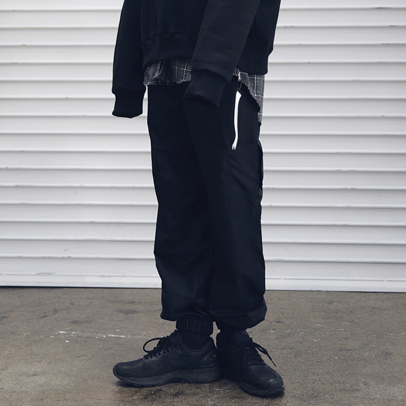 [MASSNOUN] INCISION COVER TRACK PANTS MFETP001-BK