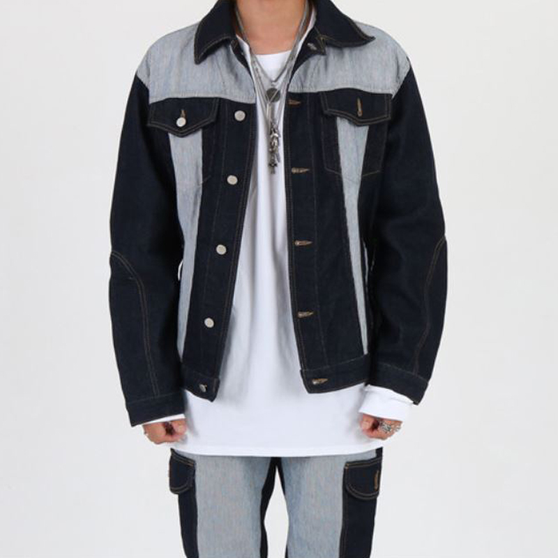 [INNOVANT] UNBALANCE WASHED JACKET (BLUE)