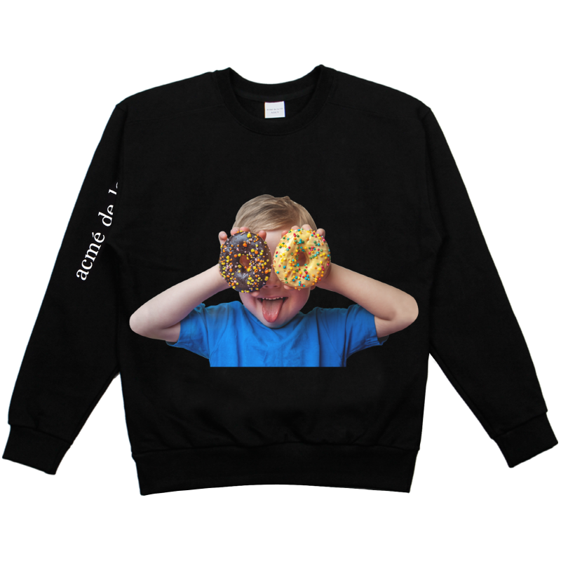 [ACME DE LA VIE] ADLV BABY FACE SWEAT SHIRTS BLACK 베이비 페이스 맨투맨 도너츠2 블랙