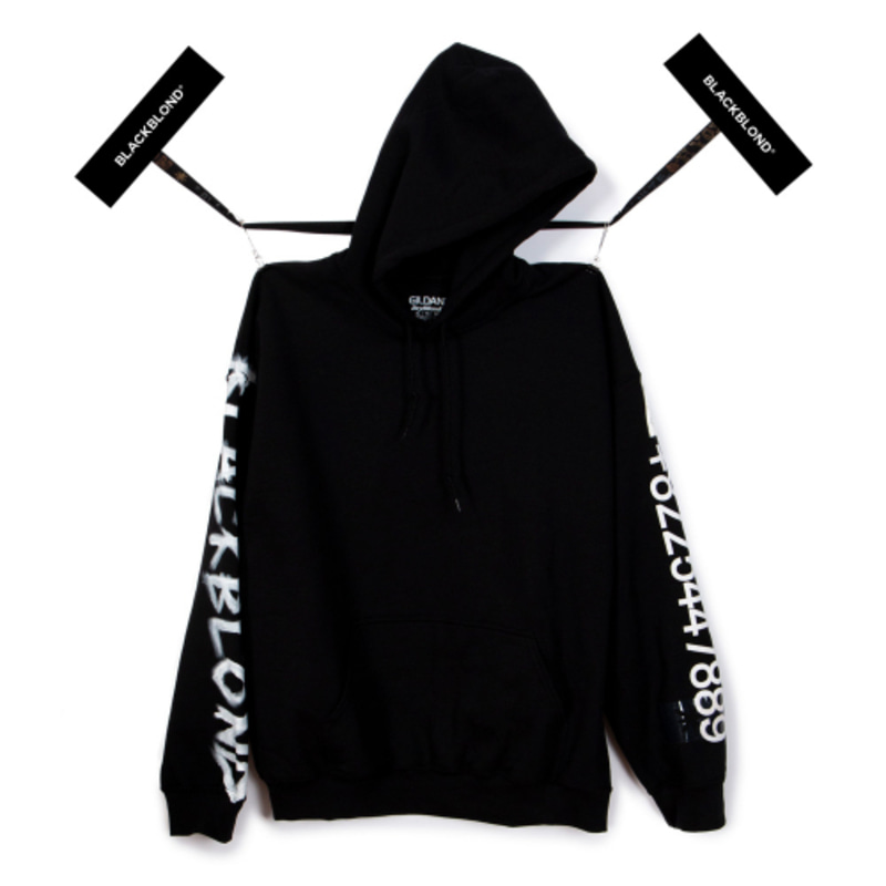 [BLACKBLOND] BBD GRAFFITI NUMBER HOODIE (BLACK)