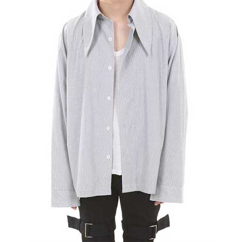 [LANG VERSIO] 128 HEAVY COLLAR SHIRT (STRIPE)