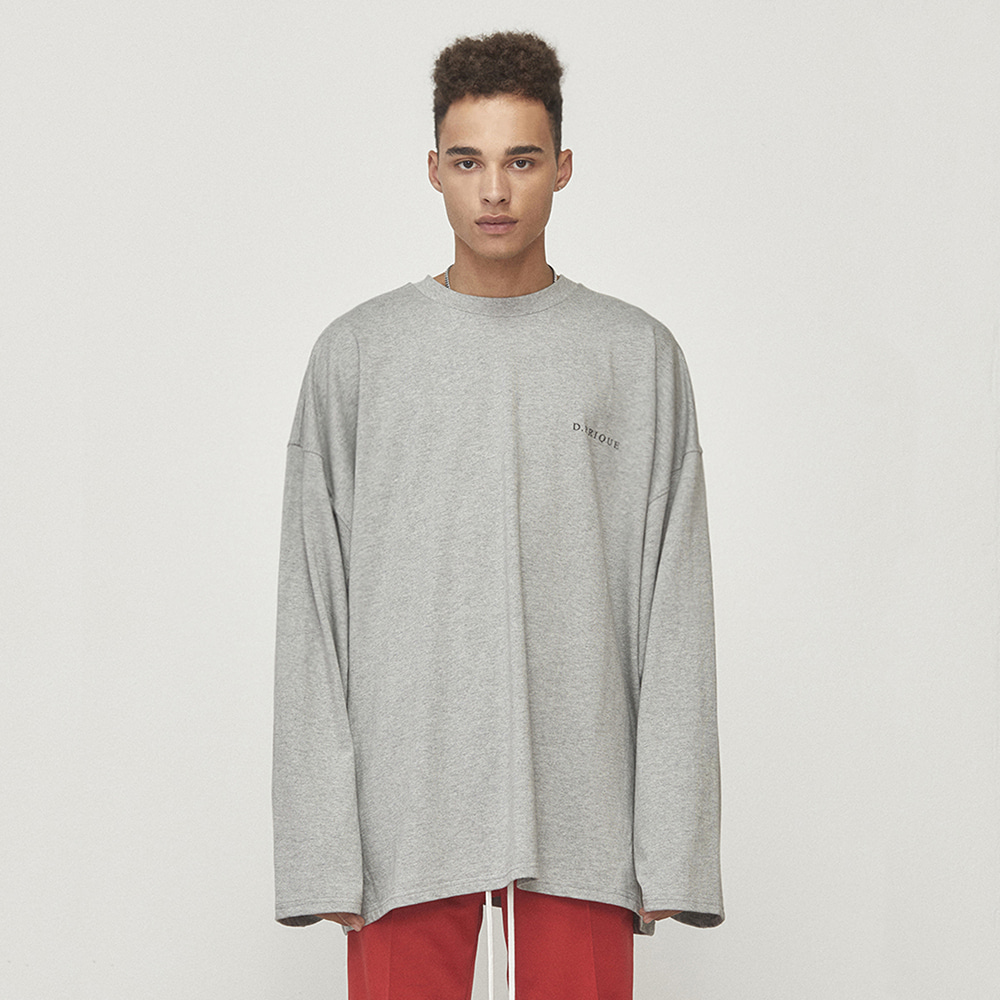 OVERSIZED LONG SLEEVE T-SHIRT (GREY)