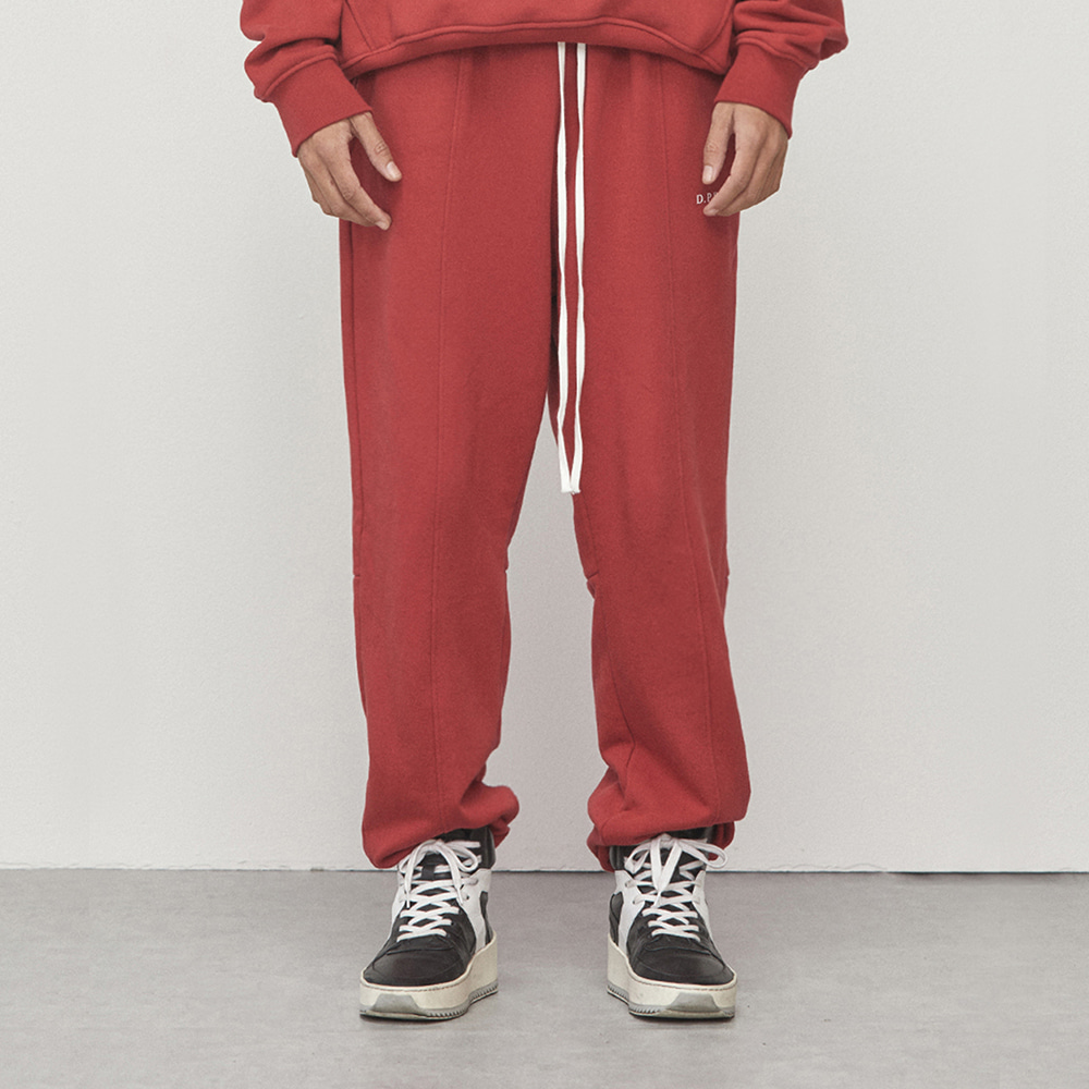 LOGO JOGGER PANTS (RED)