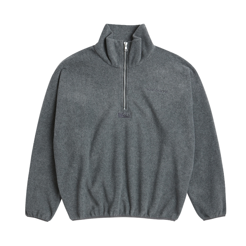 ADLV EMBROIDERY FLEECE JACKET GREY