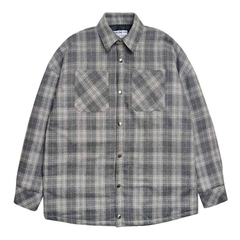[DEADEND] GRAY FLANNEL PADDING SHIRTS