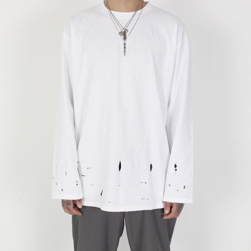 [BURJ SURTR] VINTAGE LONG SLEEVE WHITE