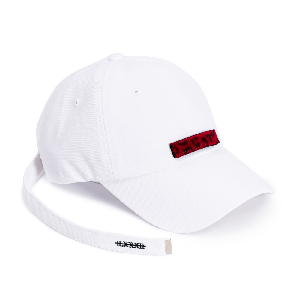 [BLACKBLOND] BBD PATCH LONG STRAP CAP (WHITE)