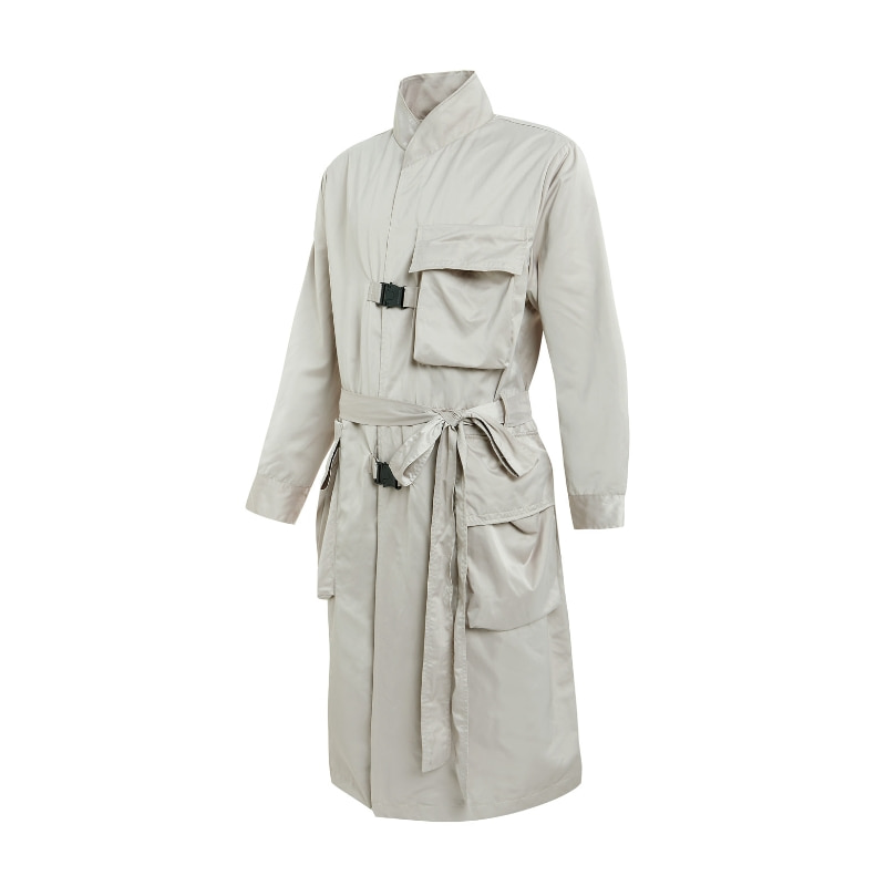 ADLV BACK LOGO COAT BEIGE