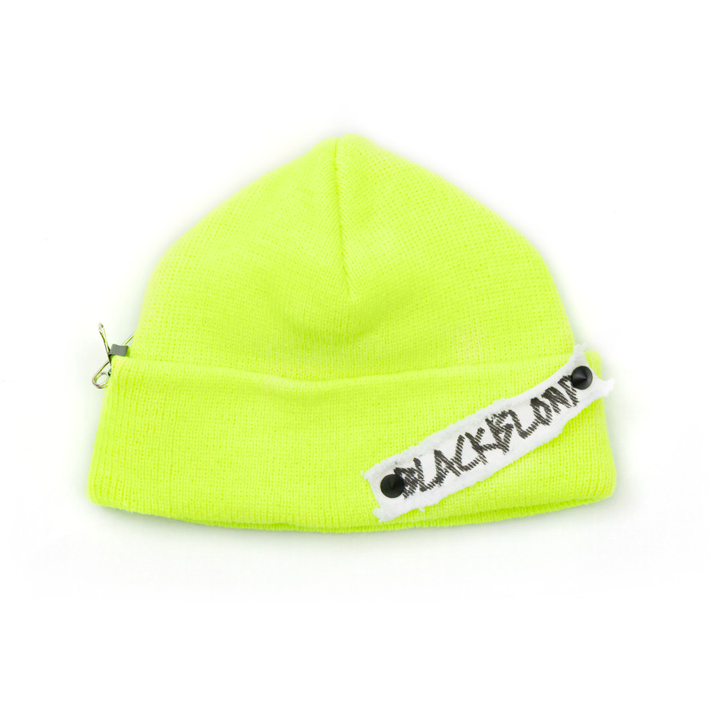 [BLACKBLOND] BBD SIDE PATCH SHORT BEANIE (NEON)
