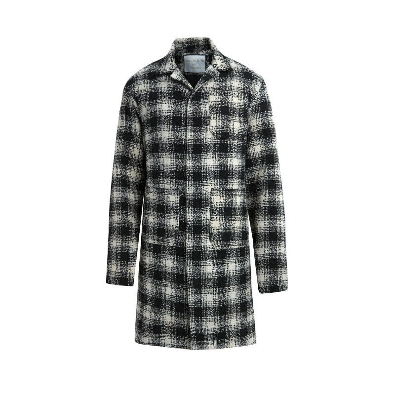 ADLV CHECK COAT BLACK