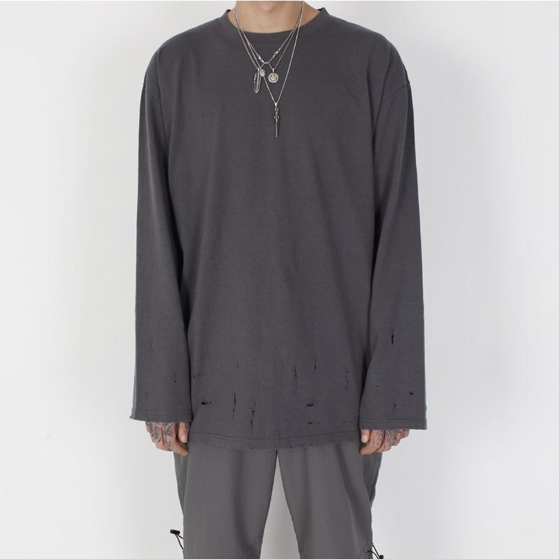 [BURJ SURTR] VINTAGE LONG SLEEVE GREY