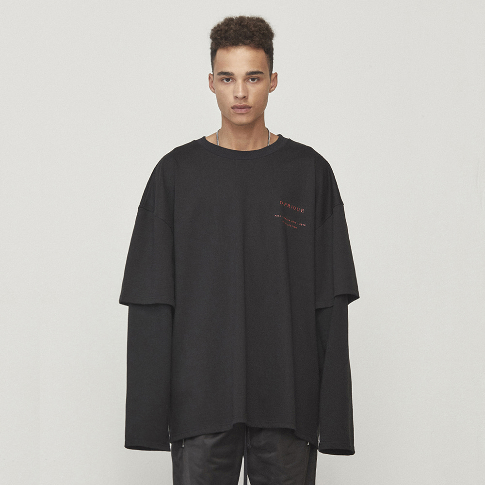 OVERSIZED LAYERED T-SHIRT (BLACK)