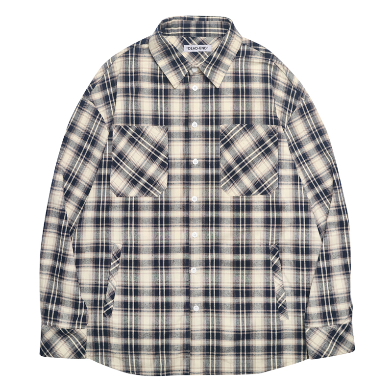 [DEADEND] NAVY BEIGE POCKET SHIRTS