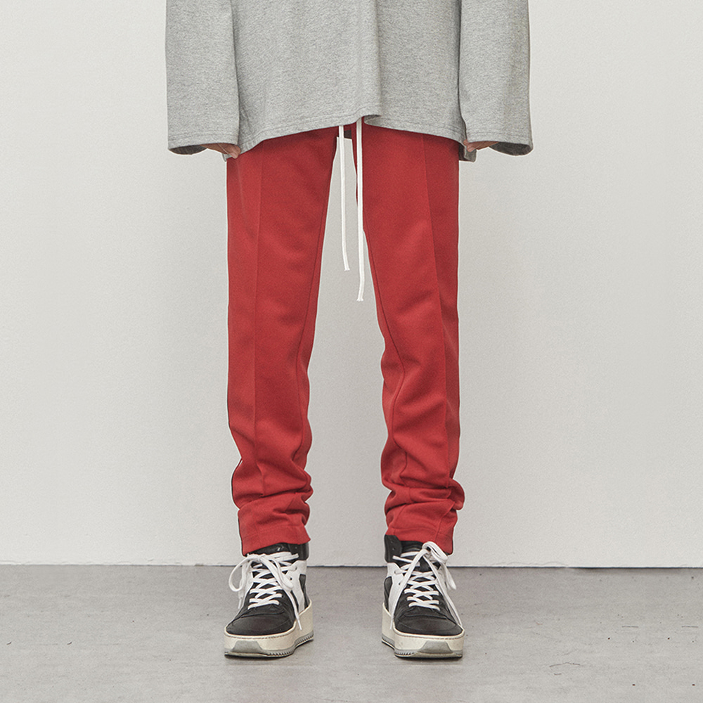 TRACK ZIPPER PANTS (RED)