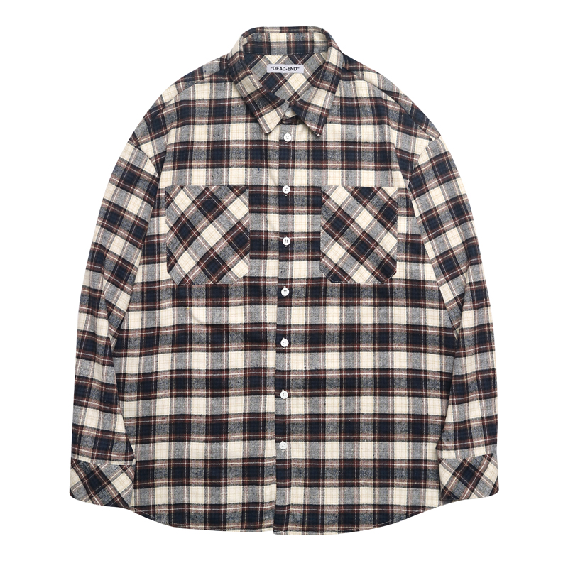 [DEADEND] BROWN FLANNEL SHIRTS