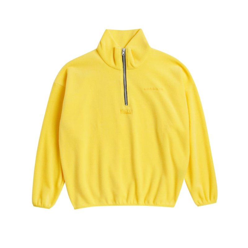 ADLV EMBROIDERY FLEECE JACKET YELLOW
